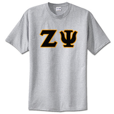 Zeta Psi Fraternity Lettered T-Shirt