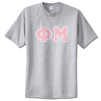 Phi Mu Sorority Lettered T-Shirt