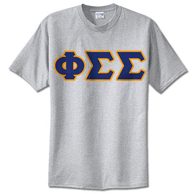 Phi Sigma Sigma Sorority Lettered T-Shirt