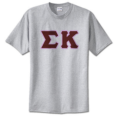 Sigma Kappa Sorority Lettered T-Shirt