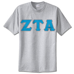 Zeta Tau Alpha Sorority Lettered T-Shirt