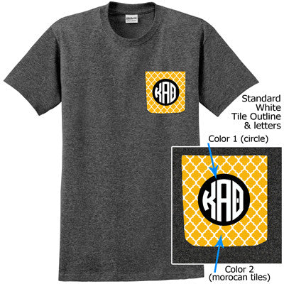 Sorority Moroccan Tile Crocket T-Shirt - Gildan 5000 - SUB