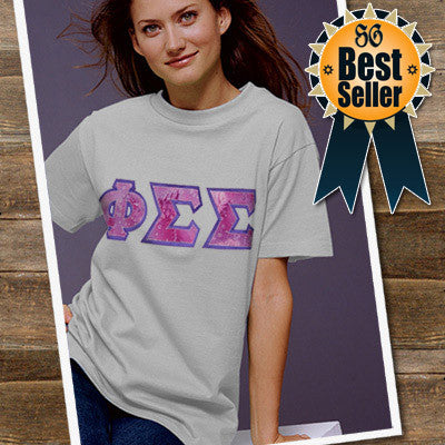 Sorority Lettered T-Shirt - Gildan 5000 - TWILL
