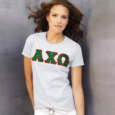 Alpha Chi Omega Ladies T-Shirt - Gildan 2000L - TWILL