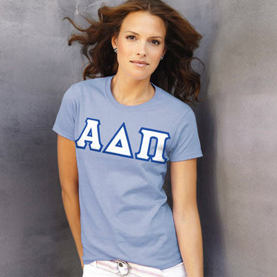 Alpha Delta Pi Ladies T-Shirt - Gildan 2000L - TWILL