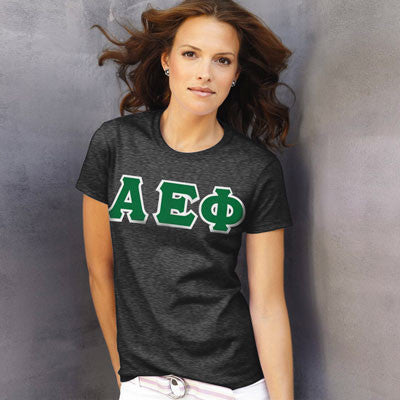 Alpha Epsilon Phi Ladies T-Shirt - Gildan 2000L - TWILL