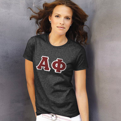 Alpha Phi Ladies T-Shirt - Gildan 2000L - TWILL