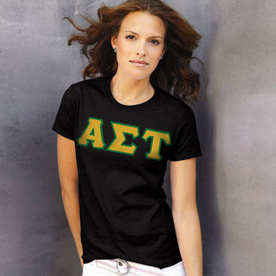 Alpha Sigma Tau Ladies T-Shirt - Gildan 2000L - TWILL