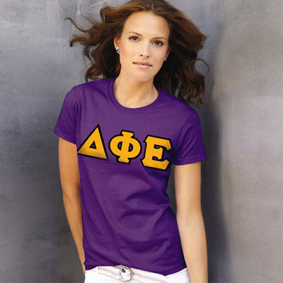 Delta Phi Epsilon Ladies T-Shirt - Gildan 2000L - TWILL