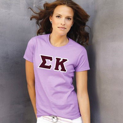 Sigma Kappa Ladies T-Shirt - Gildan 2000L - TWILL