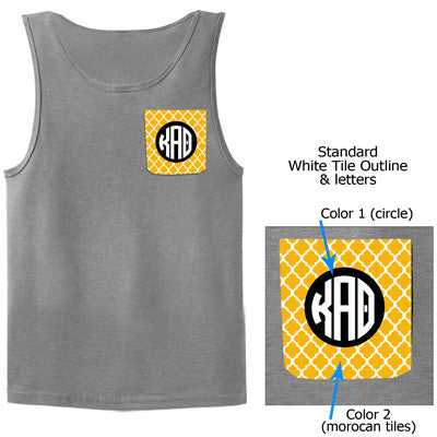 Sorority Moroccan Tile Crocket Tank Top - Gildan 2200 - SUB