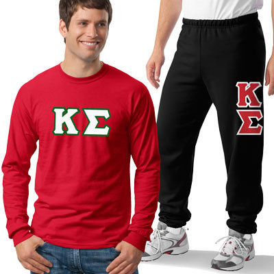 Kappa Sigma Longsleeve / Sweatpants Package - TWILL