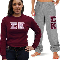 Sigma Kappa Longsleeve / Sweatpants Package - TWILL