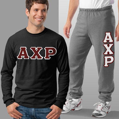 Alpha Chi Rho Longsleeve / Sweatpants Package - TWILL