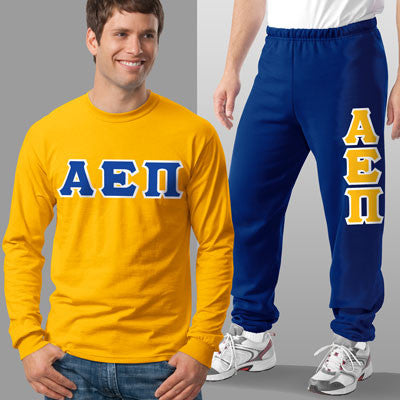 Alpha Epsilon Pi Longsleeve / Sweatpants Package - TWILL