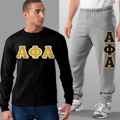 Alpha Phi Alpha Longsleeve / Sweatpants Package - TWILL