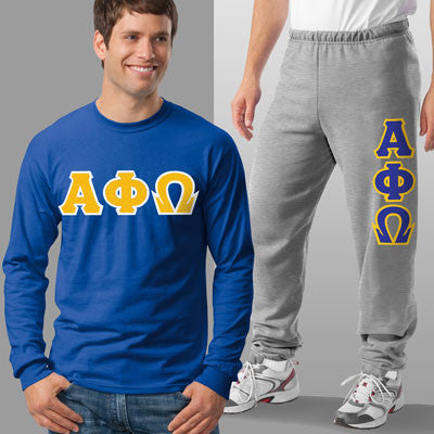 Alpha Phi Omega Longsleeve / Sweatpants Package - TWILL
