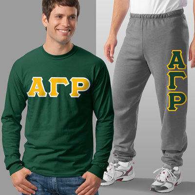 Alpha Gamma Rho Longsleeve / Sweatpants Package - TWILL