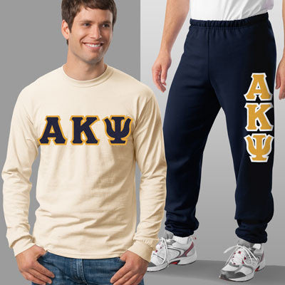Alpha Kappa Psi Longsleeve / Sweatpants Package - TWILL