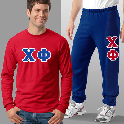 Chi Phi Longsleeve / Sweatpants Package - TWILL