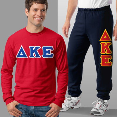 Delta Kappa Epsilon Longsleeve / Sweatpants Package - TWILL