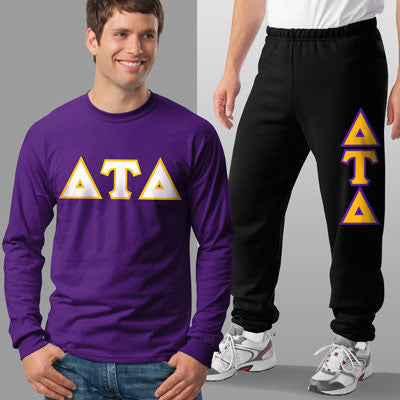 Delta Tau Delta Longsleeve / Sweatpants Package - TWILL