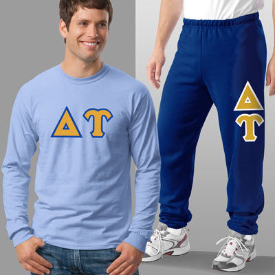 Delta Upsilon Longsleeve / Sweatpants Package - TWILL