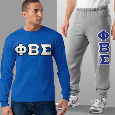 Phi Beta Sigma Longsleeve / Sweatpants Package - TWILL