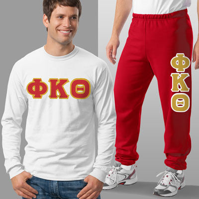 Phi Kappa Theta Longsleeve / Sweatpants Package - TWILL