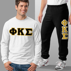 Phi Kappa Sigma Longsleeve / Sweatpants Package - TWILL