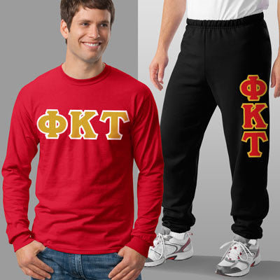 Phi Kappa Tau Longsleeve / Sweatpants Package - TWILL