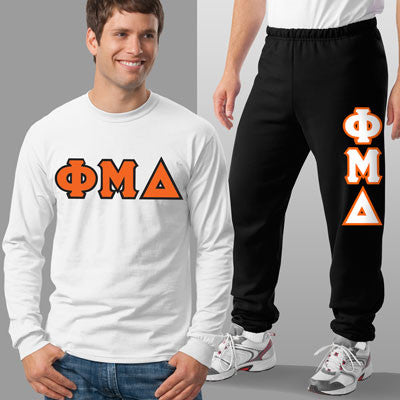 Phi Mu Delta Longsleeve / Sweatpants Package - TWILL