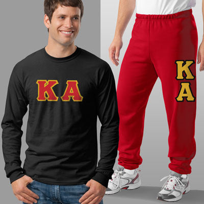 Kappa Alpha Longsleeve / Sweatpants Package - TWILL