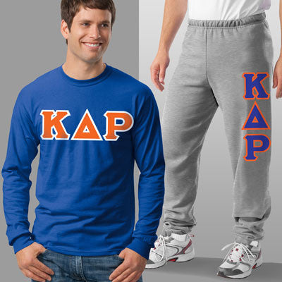 Kappa Delta Rho Longsleeve / Sweatpants Package - TWILL