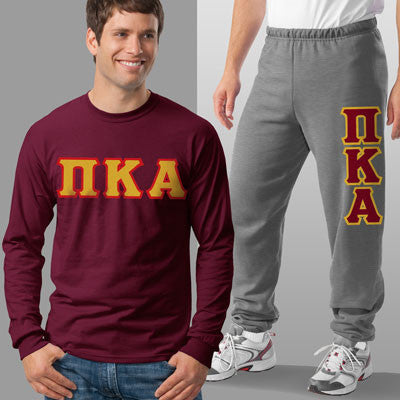 Pi Kappa Alpha Longsleeve / Sweatpants Package - TWILL