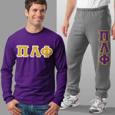 Pi Lambda Phi Longsleeve / Sweatpants Package - TWILL