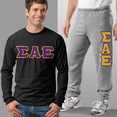 Sigma Alpha Epsilon Longsleeve / Sweatpants Package - TWILL