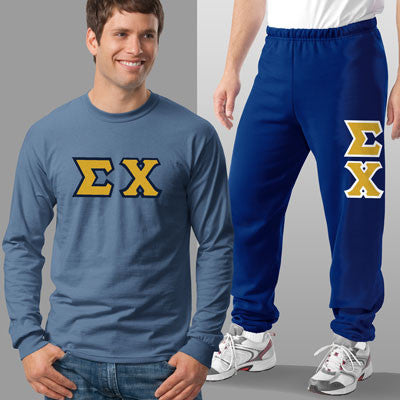 Sigma Chi Longsleeve / Sweatpants Package - TWILL