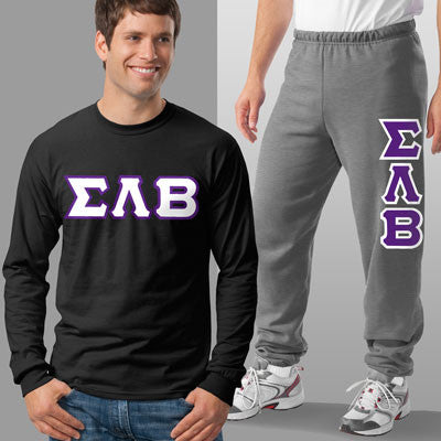 Sigma Lambda Beta Longsleeve / Sweatpants Package - TWILL
