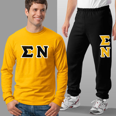 Sigma Nu Longsleeve / Sweatpants Package - TWILL