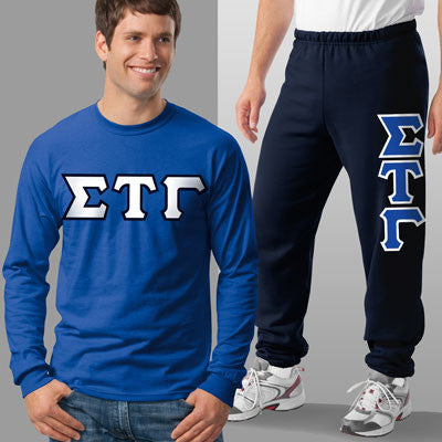 Sigma Tau Gamma Longsleeve / Sweatpants Package - TWILL