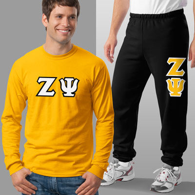 Zeta Psi Longsleeve / Sweatpants Package - TWILL