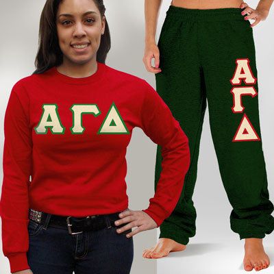 Alpha Gamma Delta Longsleeve / Sweatpants Package - TWILL