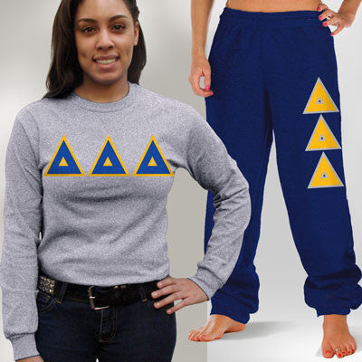 Delta Delta Delta Longsleeve / Sweatpants Package - TWILL
