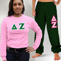 Delta Zeta Longsleeve / Sweatpants Package- TWILL