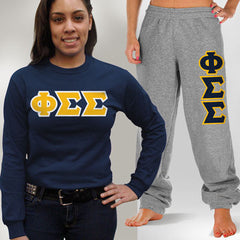 Phi Sigma Sigma Longsleeve / Sweatpants Package - TWILL
