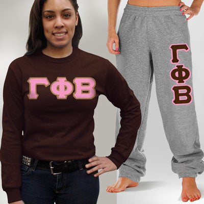 Gamma Phi Beta Longsleeve / Sweatpants Package - TWILL