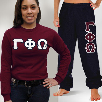 Gamma Phi Omega Longsleeve / Sweatpants Package - TWILL