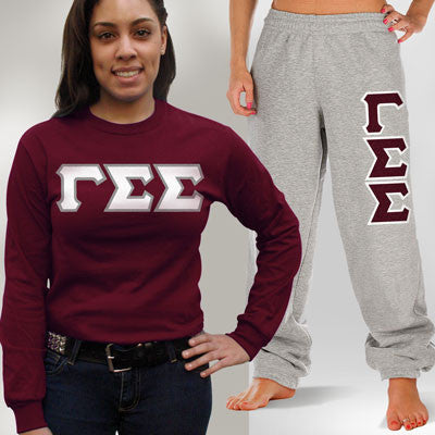 Gamma Sigma Sigma Longsleeve / Sweatpants Package - TWILL