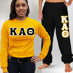 Kappa Alpha Theta Longsleeve / Sweatpants Package - TWILL